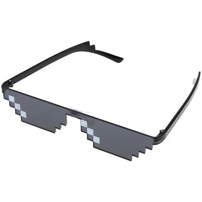 Thug Life Glasses 8 Bit Pixel Pixelated Sunglasses Unisex Sunglasses
