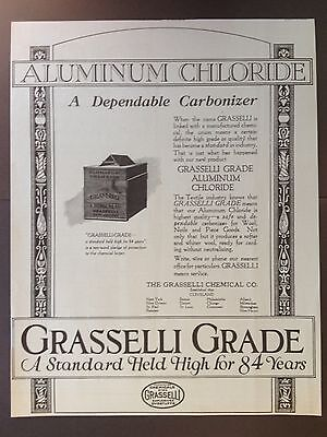Vintage 1924 Ad {E15}~Grasselli Chemical Co. Aluminum Chloride Textile Industry