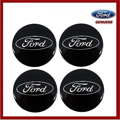 Genuine Ford Fiesta Focus Mondeo Kuga etc Gloss Black Alloy Wheel Centre Caps x4