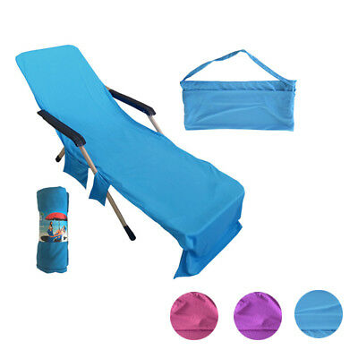 Lounger Mate Beach Towel Sun Lounger Kit For Holiday Garden Lounge with Pockets