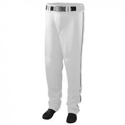 Youth Series Baseball/Softball Pant with Piping - WHITE and BLACK - MEDIUM