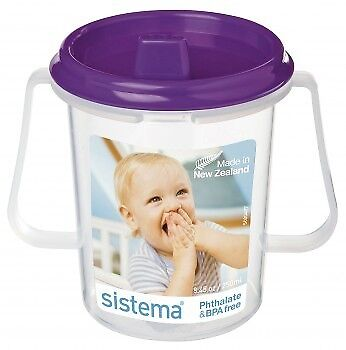 Dinkee Trainer Cup by Sistema - colour choices. Training cup, sippy cup, Feed...