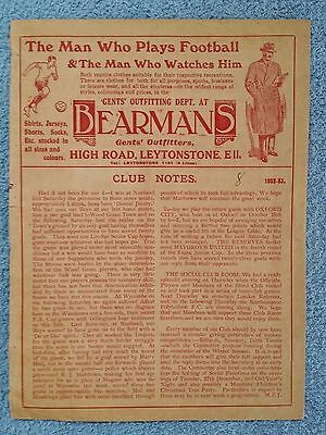1932 - LEYTONSTONE v OXFORD CITY PROGRAMME - ISTHMIAN LEAGUE 32/33
