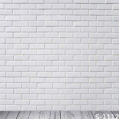 6x6ft Pure White Brick Backdrop Wall Mount Vinyl Photography Background Studio