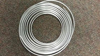 Aluminum tubing, soft bendable 1/4 inch diameter thin wall  - by the foot