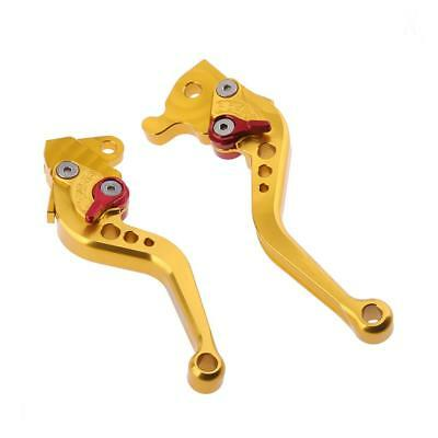 2 Pieces Adjustable Hand Brake & Clutch Levers for Yamaha RSZ RS100 gold