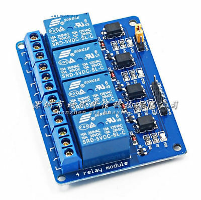 DC 5V AVR For Arduino ARM Optocoupler DSP PIC With 4 Channel Relay Module 2016