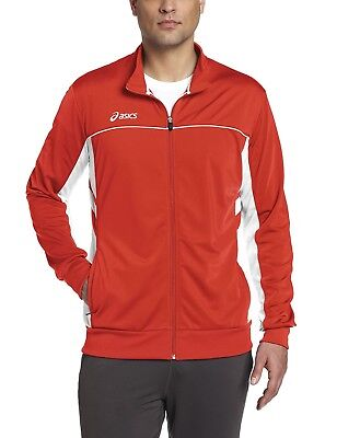 (Medium, Red/White) - ASICS Men's Cabrillo Jacket. Delivery is Free