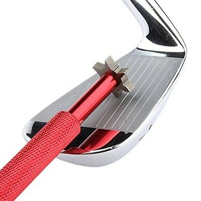 (Red) - LEORX Golf Club Groove Sharpener Tool with 6 Cutters. Free Shipping