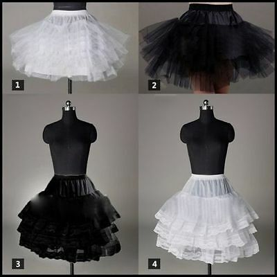 black/white satin tulle new petticoat underskirt in stock good price and quality