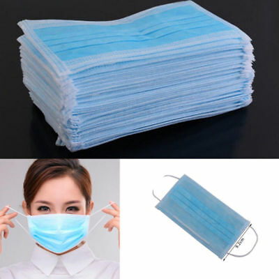 50 Pcs Face Masks Dental Medical Surgical Mouth New Dust Ear Loop Disposable