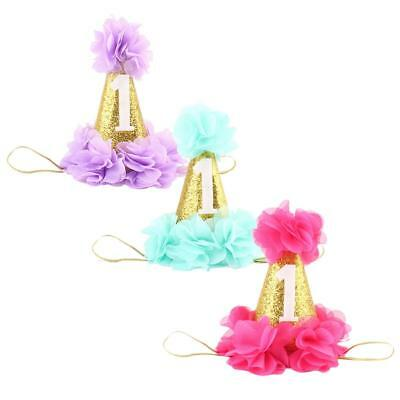 3pc Girl Princess Tiara Crown Party Birthday Headband Hair Band Headwear