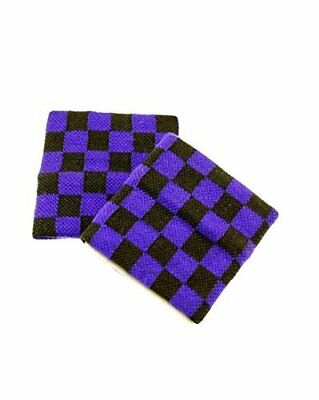 Zac's Alter Ego® Pair of Checkered Sweatbands / Wristbands