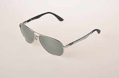 afe26ca63b New Ray-Ban RB8313 003 40 Sunglasses Silver Lens Silver Carbon Fibre Frame
