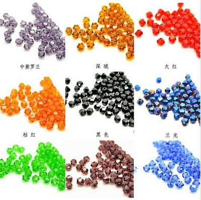 120Pcs Rondelle 4mm Crystal Czech Loose Bracelet Gift Glass Beads New Hot For