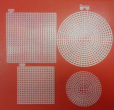 Darice Plastic Canvas Shapes 2, 5, 10 Shapes Round Square 7 count needle craft