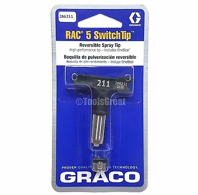 Graco Rac 5 286211 Switch Tip Paint Spray Tip Size 211