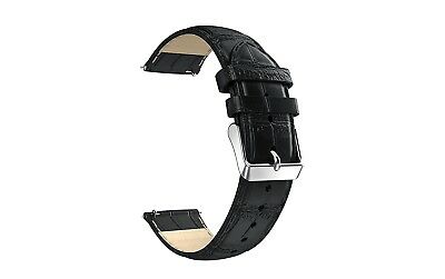 (22mm Universal Band, Black) - 22mm Watch Strap, Enow Universal 22mm Leather Wat