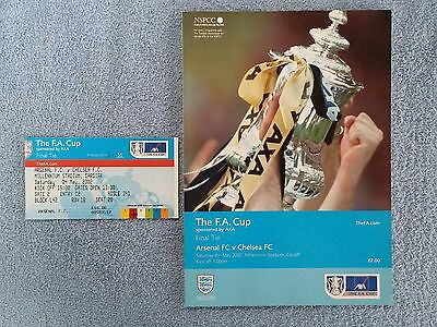 2002 - FA CUP FINAL PROGRAMME + MATCH TICKET - ARSENAL v CHELSEA