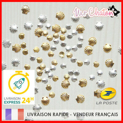 Nail Art - 10 Pcs Coquillage Ocean - Manucure Deco Ongles