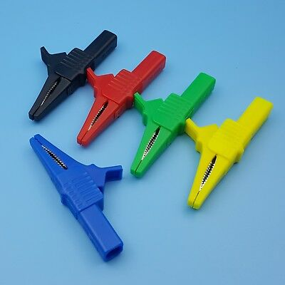 5Pcs Insulated Safety 83mm Test Alligator Clip With 4mm Banana Jack 1000V 32A