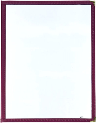 Winco Double Fold Menu Cover, 12-Inch x 9.5-Inch, Burgundy
