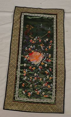 Antique Vintage Chinese Embroidered 100 Boys Silk Fabric Robe Panel