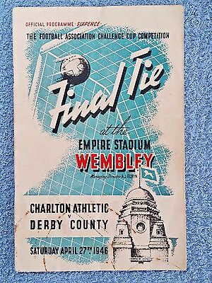 1946 - FA CUP FINAL PROGRAMME - CHARLTON ATHLETIC v DERBY COUNTY - ORIGINAL