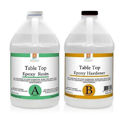 TABLE TOP EPOXY RESIN CRYSTAL CLEAR 2 Gallon Kit. FOR SUPER GLOSS COATING
