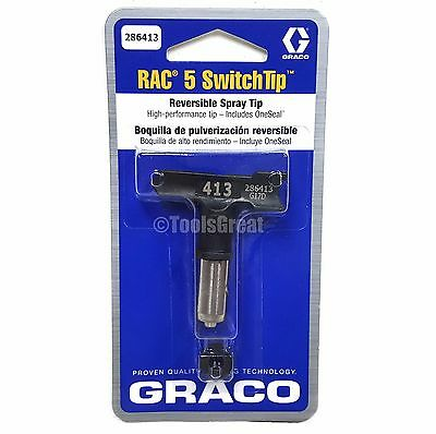 Graco Rac 5 286413 Switch Tip Paint Spray Tip Size 413