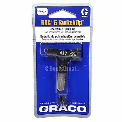 Graco Rac 5 286417 Switch Tip Paint Spray Tip Size 417
