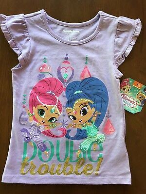 "Shimmer and Shine ""double trouble"" t-shirt toddler girls"