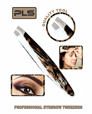 PINCE A EPILER Stainless Steel Snake Skin Colour Eyebrow Tweezer Slanted Tip