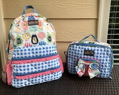 MATILDA JANE Scholarly Me Backpack LUNCH All Packed Up LunchBox Set of 2