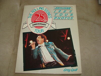 The Rolling Stones 25th Anniversary Tour Book 1989 Greg Quill