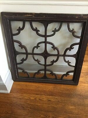 Antique Architectural Salvage Wooden Windows Carved Dogwood Flowers Pair