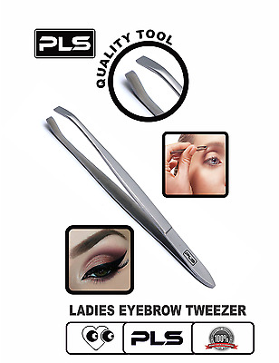 DAMES PINCE A EPILER- Stainless Steel Eyebrow Tweezer Slanted Tip For Eyebrows