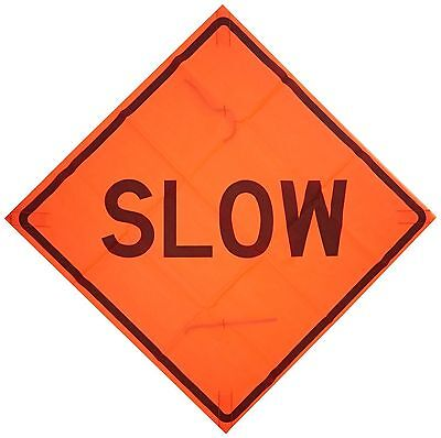 """Traffic Sign Speed Limit SLOW 17841 Polyester Fabric Square 48"""" x 48"""""""