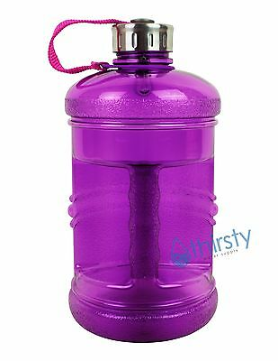 776f478e96 Purple BPA Free Water Bottle 2.3 Liter Canteen Gym Jug Container .6 Gallon  New