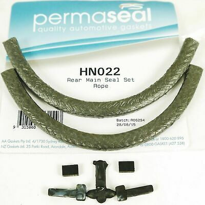 Holden 173 202 3.3 Red Blue & Black Rope Rear Main Seal Graphite Permaseal Hn022