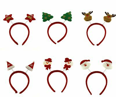 Zac's Alter Ego® Pack of 6 Assorted Christmas Head Boppers, Xmas Headbands