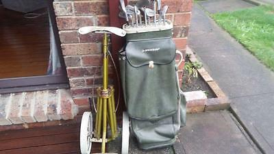 Golf Set ( 12 clubs ), bag and trolley