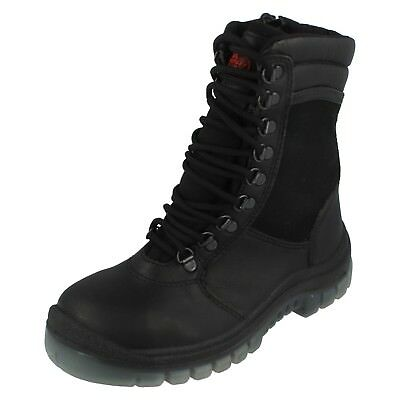 Ladies Z-X Totector Black Fire Service Work Boots - 2050 - Size UK 5