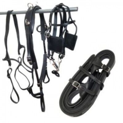 (Mini, Black) - Tory Leather Driving Harness Mini. Shipping is Free