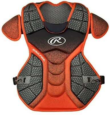 (Black/Orange) - Rawlings Sporting Goods Catchers Chest Protector Velo Series