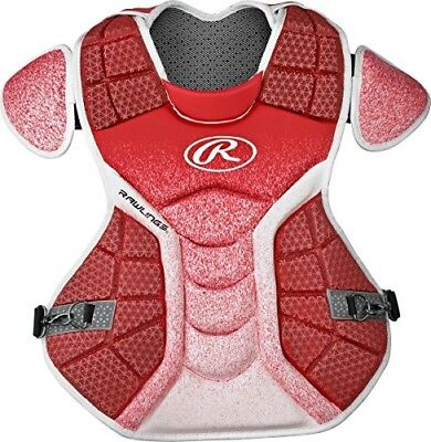 (Scarlet/White) - Rawlings Sporting Goods Catchers Chest Protector Velo Series