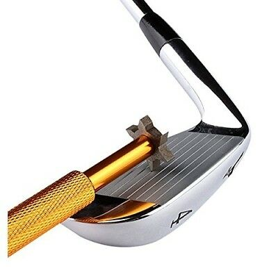 (Golden) - LEORX Golf Club Groove Sharpener Tool with 6 Cutters. Brand New