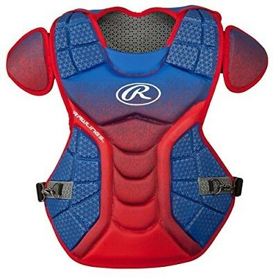 (Royal/Scarlet) - Rawlings Sporting Goods Catchers Chest Protector Velo Series