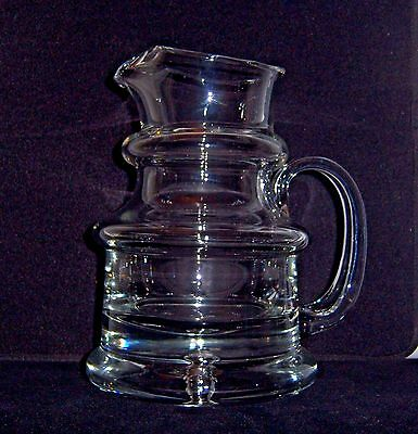 rare Antique~Blown Glass~Whiskey Hard Cider PITCHER~Applied Handle~open Pontil