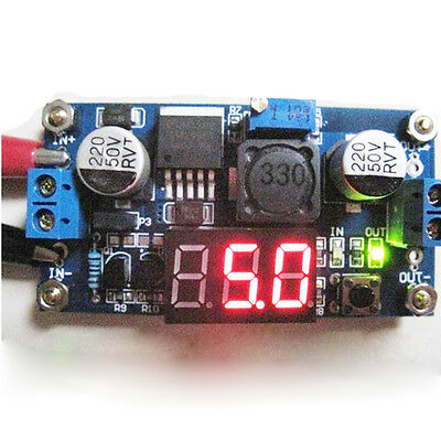 LM2596 Power Adjustable Step-down Power Supply Module Voltage Current LCD